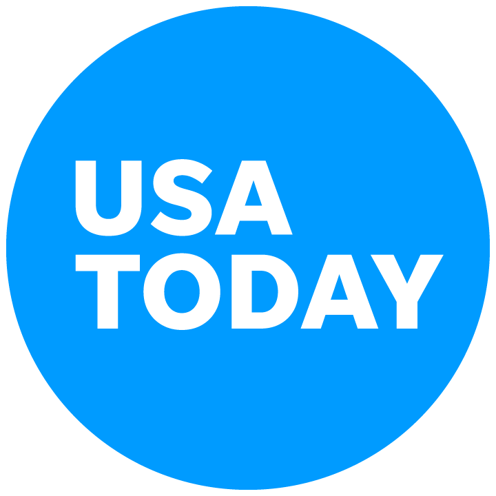 USA Today logo featuring a blue circle with white text reading USA Today